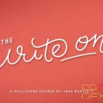 AE手写字动画MG教程 Skillshare -The Write On Hand Lettering In Motion