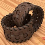 皮革手环腰带C4D建模材质渲染教程(含工程插件) Cinema 4D Modeling Texturing and Rendering a Leather Bracelet Tutorial