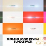 AE模板-光线闪耀扫光Logo展示 Elegant Logo Reveal Bundle Pack