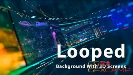 looped-background-with-3d-screens