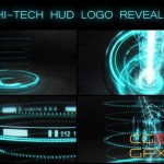 AE模板-高科技HUD Logo动画 Hi-tech HUD Logo Reveal