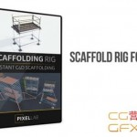 C4D脚手架支架模型绑定预设 The Pixel Lab – Scaffold Rig for Cinema 4D + 使用教程