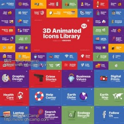 3D-Animated-Icons-Library